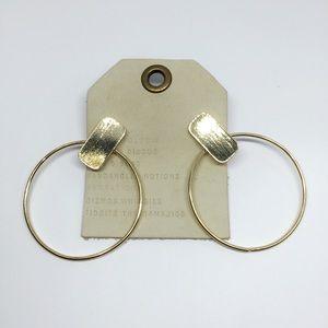NWT Anthropologie Round Hoop Earrings
